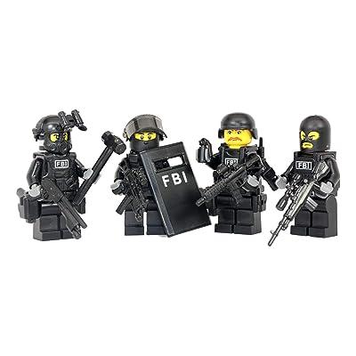 Modern Brick Warfare FBI Swat Team Police Squad Custom Minifigure: Toys & Games [5Bkhe0204419]