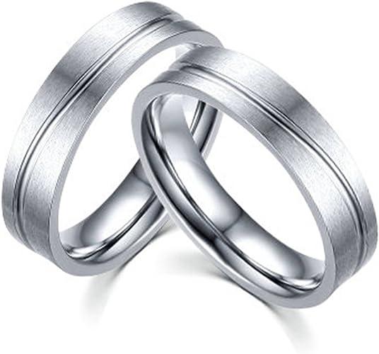 Bishilin S925 Silver Simple Design Elegant Comfort Fit Wedding Band Adjustable Rings