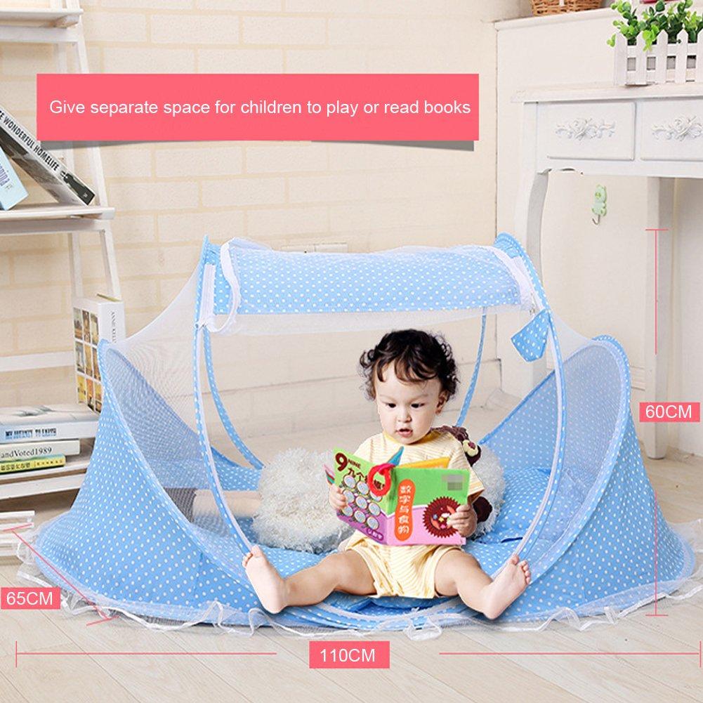 faltbar Krippe mit Kissen und Moskitonetz f/ür Reisen Outdoor-Aktivit/äten Baby Moskitonetz Home