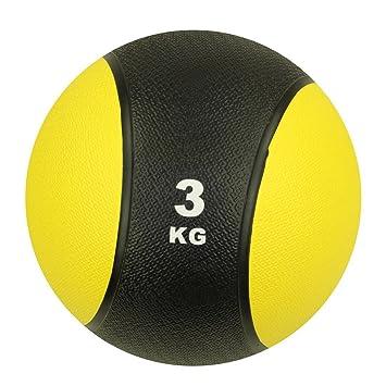 a56c4cfb70def Carnegie 3 kg Balón Medicinal Fitness - Pelota de balón de Crossfit ...