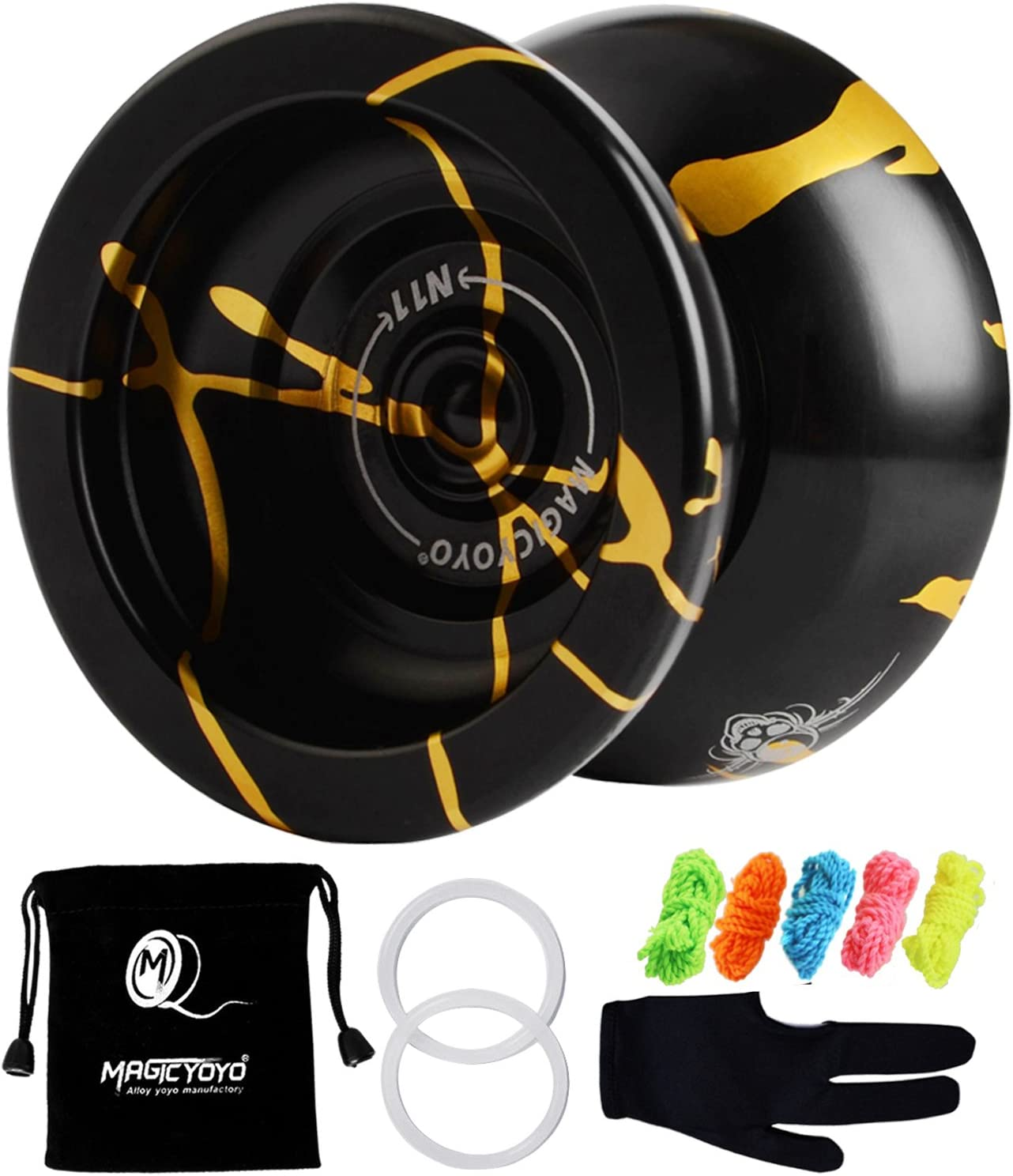 Black ... MAGICYOYO N11 Alloy Aluminum Professional Yoyo Unresponsive YoYo Ball