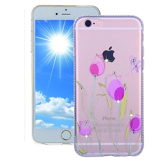 purchase cheap dd455 cb72e Amazon.com: Euskey iPhone 6 Plus Flexible Clear Case,iPhone 6S Plus ...
