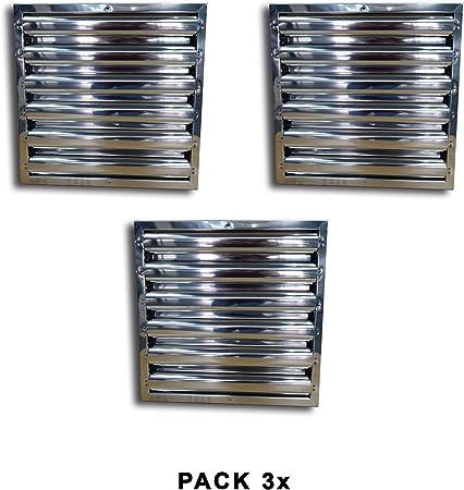 Quickware Pack 3 x Filtros para Campana | de Lamas | Material de Acero Inoxidable AISI430 | Medidas (490x490x48mm) | para Campanas de Hostelería y Cocinas Industriales: Amazon.es: Hogar