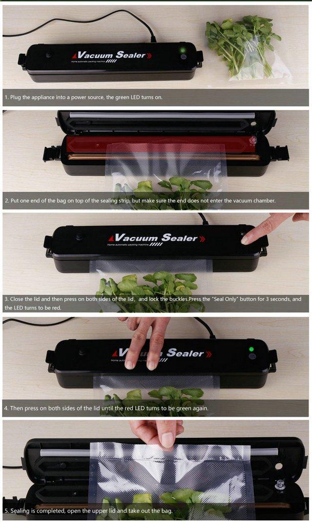 GuDoQi Vacuum Sealer Machine Vacuum Food Packaging Machine Automatic Portable Home Hotel Hospital Supermarket by GuDoQi (Image #7)