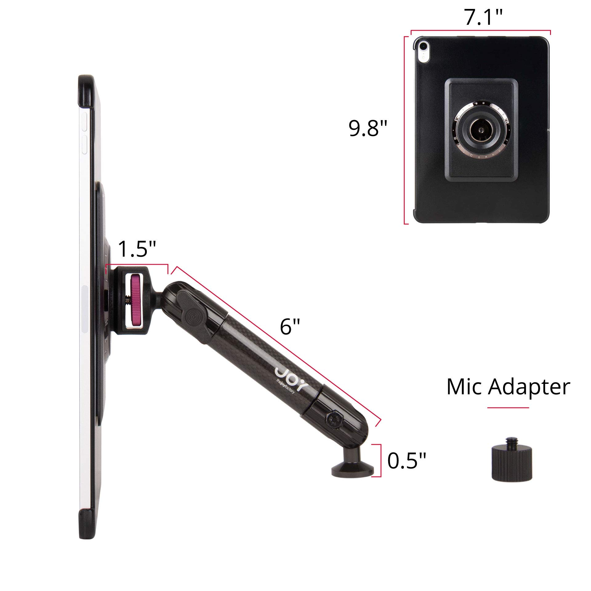 The Joy Factory MagConnect Carbon Fiber Tripod/Microphone Stand Mount for iPad Pro 11'' (MMA7001) by The Joy Factory (Image #6)