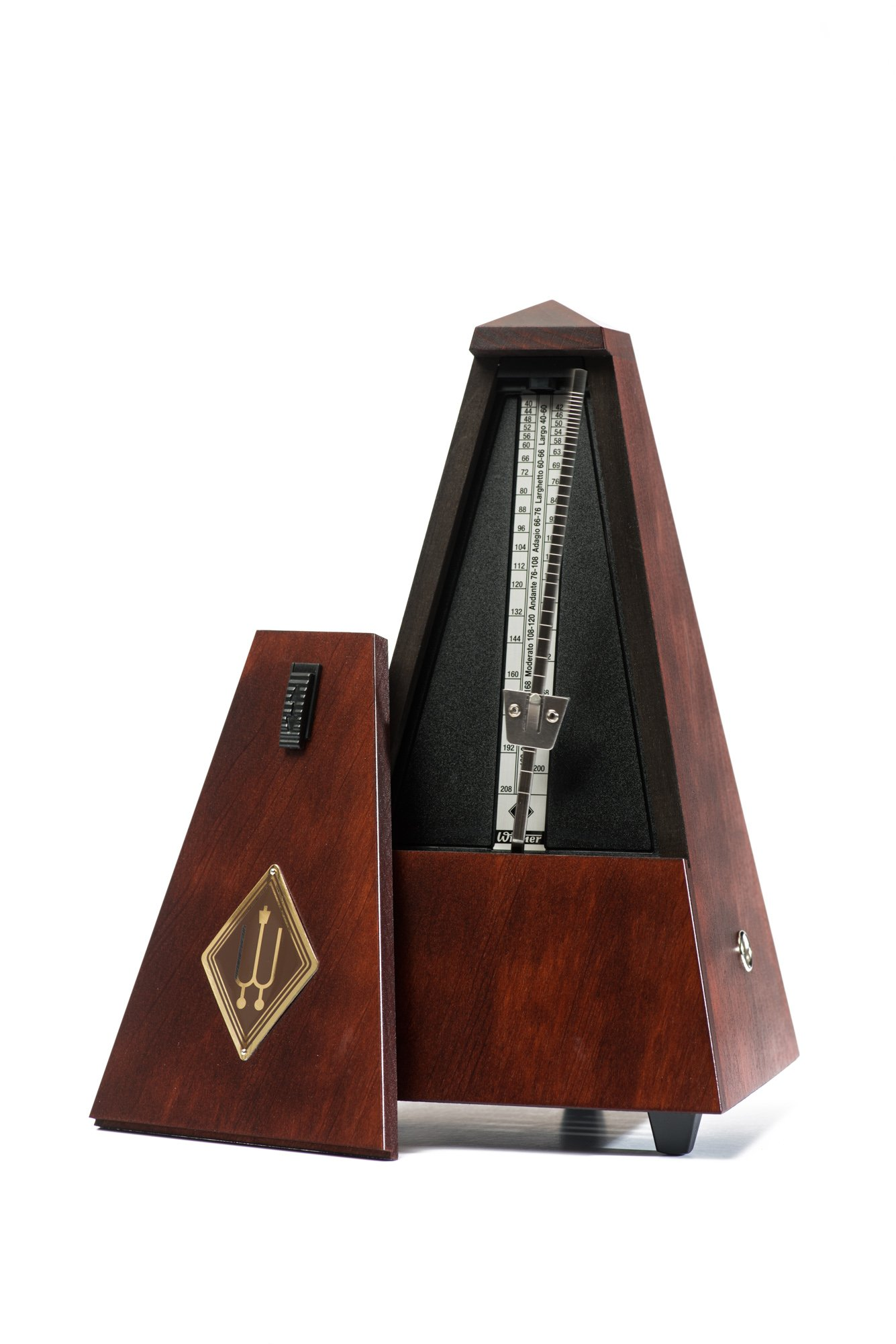 WITTNER 801M Metronome System Maelzel without Bell, Mahogany Coloured, Mat Silk by Wittner
