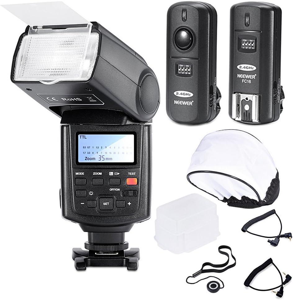 Neewer® Speedlight E-TTL Profesional *Sincronización de Alta Velocidad* Kit de Flash para CANON Rebel T4i T3i T3 XS T2i T1i Xsi Xti, EOS 650D 600D 1100D 1000D 550D 500D 450D 400D 5D Mark III 5D Mark II 7D 60D 50D 40D 30D DSLR Cámaras, In