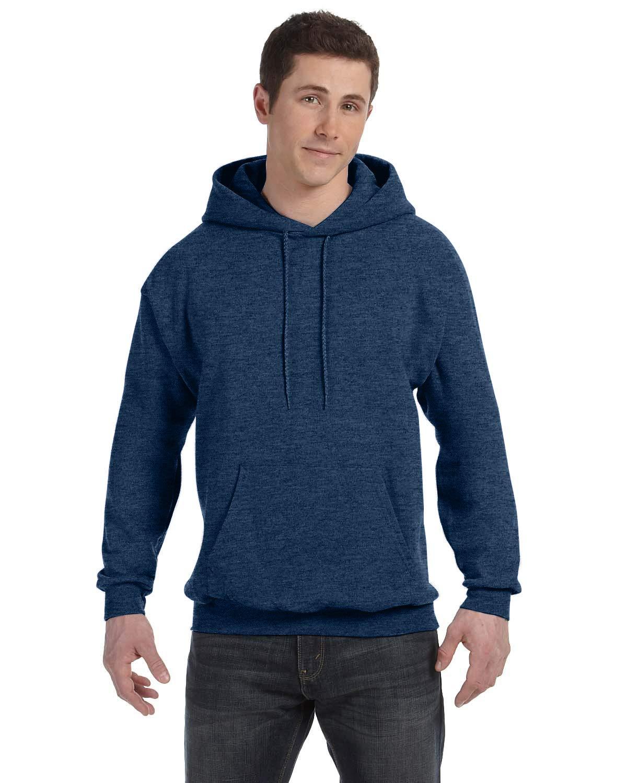Hanes Men's Pullover EcoSmart Fleece Hoodie, Navy