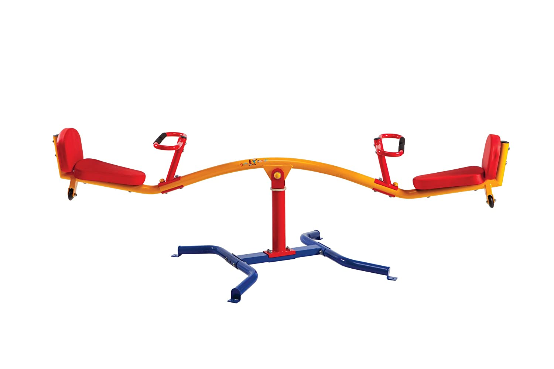 Gym Dandy Spinning Teeter Totter - Impact Absorbing Kids Playground Equipment - 360 Degree Rotation TT360