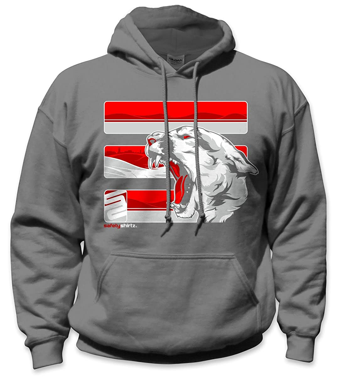 c643ef4cd SafetyShirtz The Palouse Safety Hoody Gray w/ Red at Amazon Men's Clothing  store: