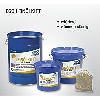 EGO LEINÖLKITT 5 kg Kunststoff-Eimer, Fensterkitt, Glaserkitt, Holzfensterkitt, Reparaturkitt auf Leinölbasis