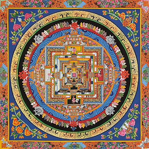 Tibetan Buddhist Kalachakra Mandala - Tibetan Thangka Painting by Exotic India