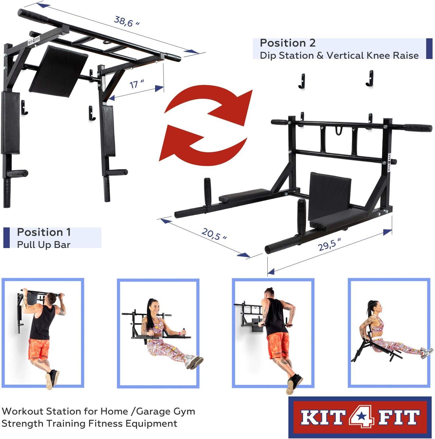 RTTRY Inicio Pieza Horizontal Barras paralelas de Barras de Equipos de Fitness Ejercicios en casa Dispositivo de dominadas Flexiones Soporte