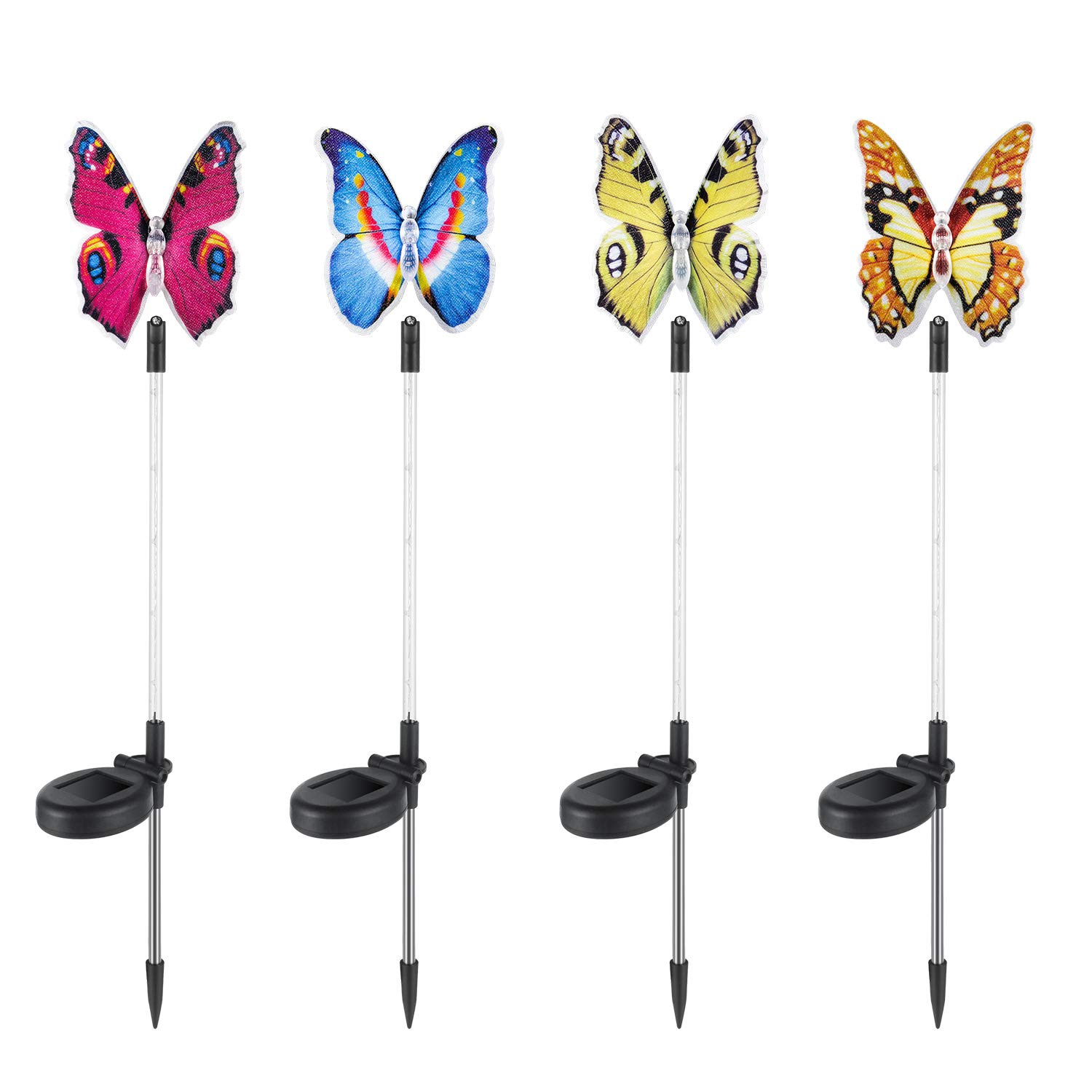 ComLeds Solar Garden Light, Outdoor LED Butterfly Decor Light 4 Packs Waterproof Motion Sensor Landscape Light by ComLeds
