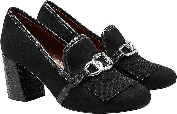 next Mujer Zapatos Estilo Mocasines De Tacón Ancho Adorno De