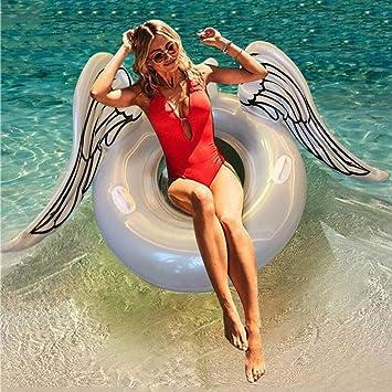 Huaanlonguk Flotador Inflable para Piscina con Forma de alas de ángel, Flotador Gigante de la