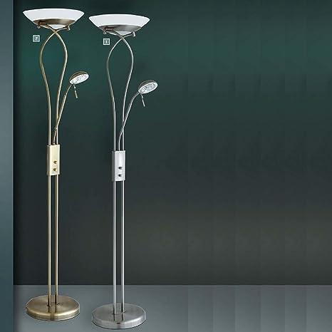 Clásica Lámpara de pie en bronce 2 x R7S hasta 230 W 230 V ...