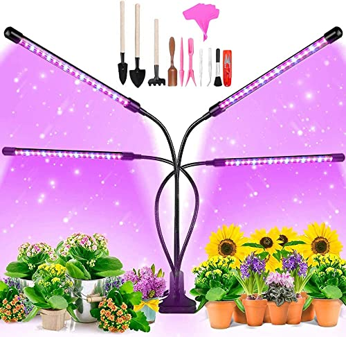 Grow Light for Indoor Plants Full Spectrum,LED Grow Lights,80W Full Spectrum Plant Lights with Auto ON Off 3 9 12H Timer, 9 Dimmable Brightness for Indoor Succulent Plants Growth,hydroponics Supplies