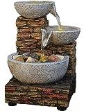 Cascading Bowl and Brick LED Fountain