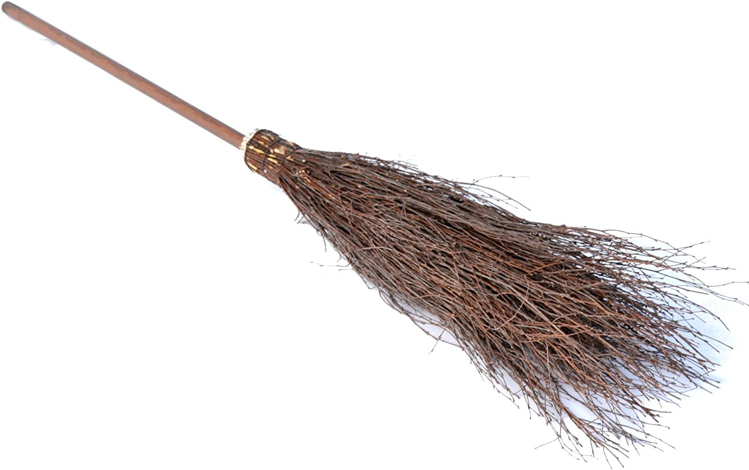 carnival BooGardi Willow Broom 160 x 25 cm with handle household and floor Wickerbroom as witches broom for Halloween