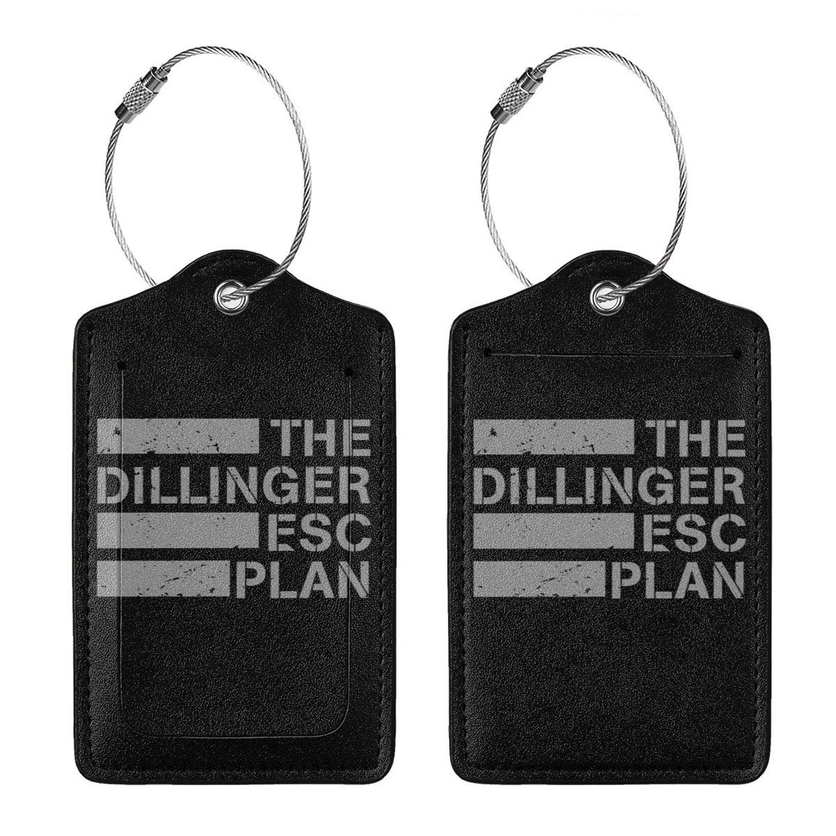 The Dillinger Escape Plan TDEP Esc Leather Luggage Tag Travel ID Label For Baggage Suitcase
