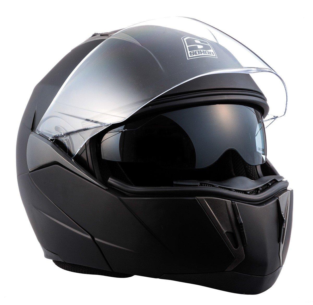 SOXON SF-99 Neon Yellow /· Integrale Sport Casco da motocicletta modulare Moto Cruiser Modular-Helmet Urbano Scooter Urban Flip-Up /· ECE certificado /· dos viseras incluidas /· incluyendo bolsa de casco /· Amarillo /· M