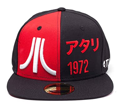 33291083 Image Unavailable. Image not available for. Color: Atari Baseball Cap  Japanese Logo 1972 Official Retro Gamer Black Snapback