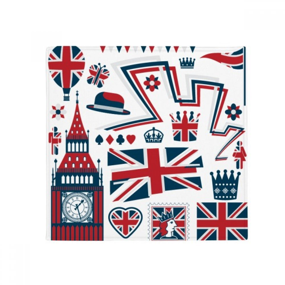 60X60cm DIYthinker Tower Big Ben Ballon Soldier UK Landmark Flag Anti-Slip Floor Pet Mat Square Bathroom Living Room Kitchen Door 60 50Cm Gift