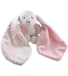 Babysutten Schmusetuch mit Namen 1 Zeile Bestickung Maus inkl Teddykompaniet