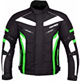 PROFIRST JKT-007   Waterproof Motorbike Motorcycle Jacket in Cordura Fabric and CE Approved Armour - 6 Packs Design Most Popular (Available in Black Grey Blue Red and Green)