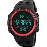 Tonnier Watch Mens Outdoor Sports Watches Multifunction Digital LED Military Dual Time Back Light Stopwatch Waterproof Wristw
