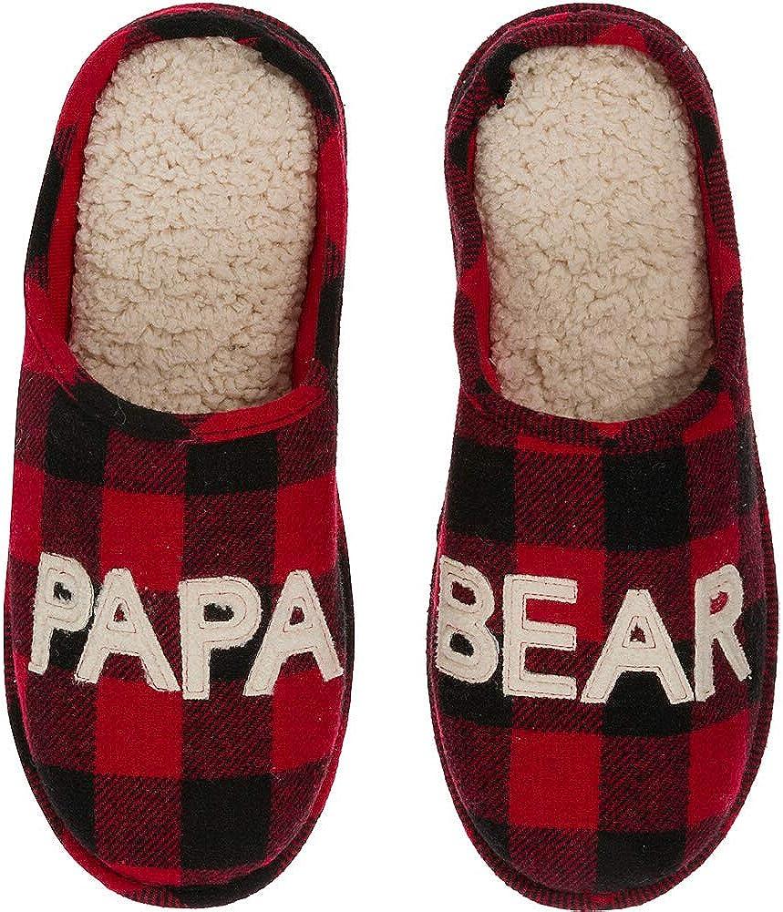 Dearfoams Men's Papa Bear Plaid Clog Slipper 71XQLBjvzSL