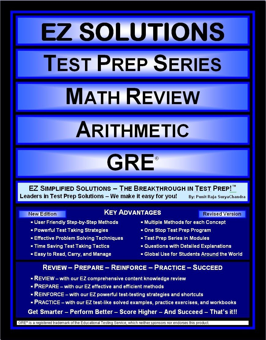 EZ Solutions - Test Prep Series - Math Review - Arithmetic - GRE (Edition: Updated. Version: Revised. 2015) ebook