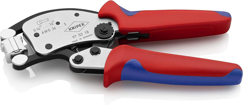 Knipex 97 53 18 Twistor16, Alicate autoajustable Punteras, con Cabeza giratoria para entallar, Rojo: Amazon.es: Bricolaje y herramientas