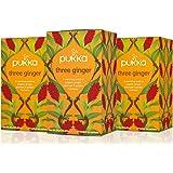 Pukka Three Ginger, Organic Herbal Tea With Galangal & Turmeric (3 Pack, 60 Tea Bags)