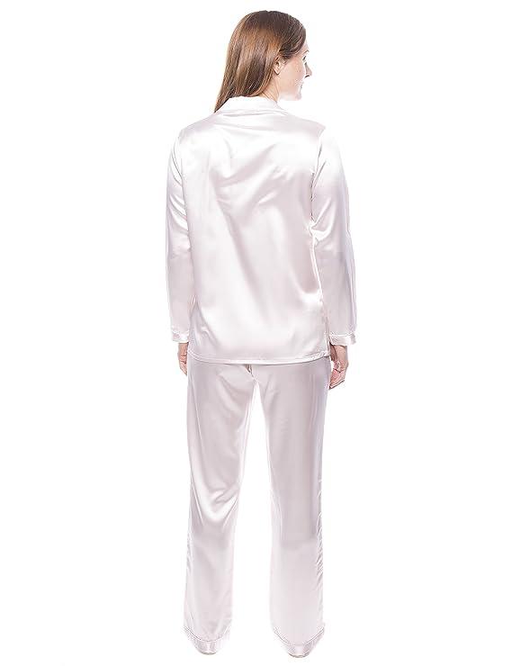 Twin Boat Conjunto Pijama de Satín para Mujer - Perla - 3XL: Amazon.es: Ropa y accesorios