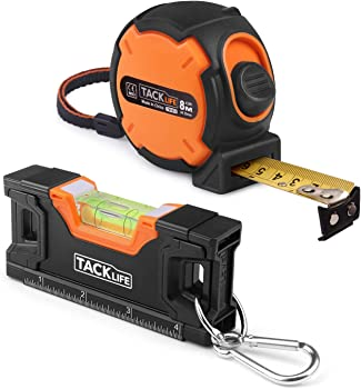 Tacklife 26-Ft Measuring Tape with Magnetic Torpedo Level