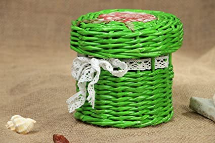 Amazon com: Small Round Jewelry Box Made Of Paper Tubes