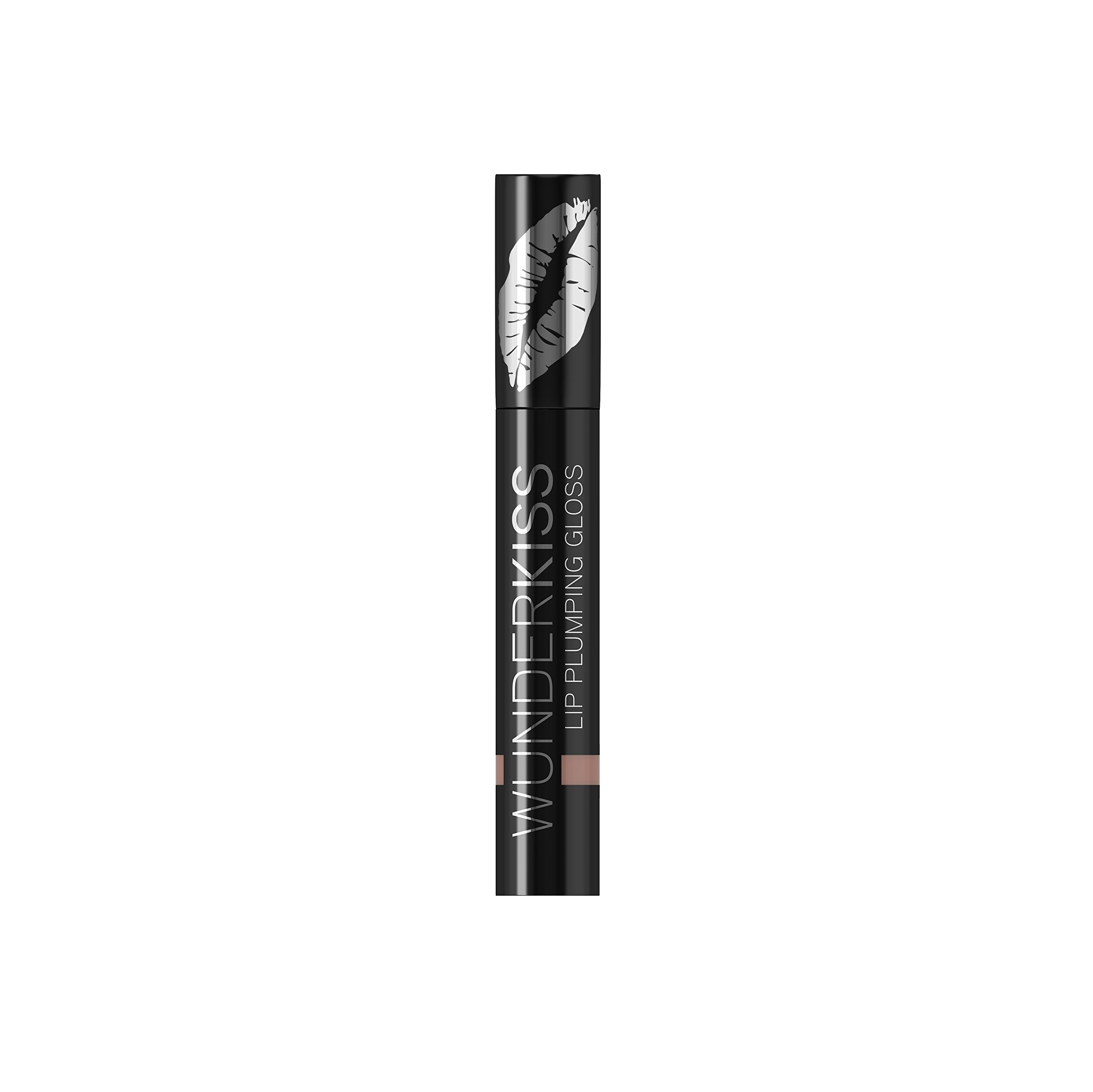WUNDER2 WUNDERKISS Plumping Lip Gloss - Lip Plumper for Hydrated and Voluminous Lips, Nude Color