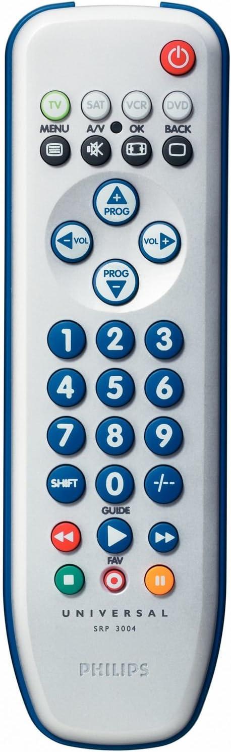 Philips SRP3004/10 - Mando a distancia universal (4 en 1), blanco: Amazon.es: Electrónica