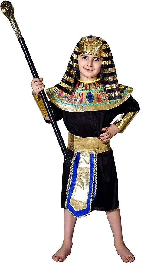 SEA HARE Disfraz de Faraón Egipcio para Niño (M:7-9 años): Amazon ...