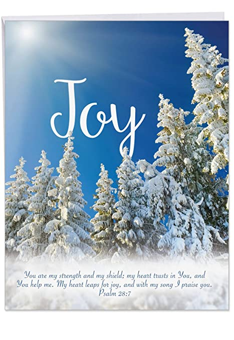 Beautiful Religious Christmas Cards.Big Merry Christmas Greeting Card Holiday Devotions Gorgeous Image Of Religious Xmas Sentiment Written Over Beautiful Landscape Jumbo Size 8 5