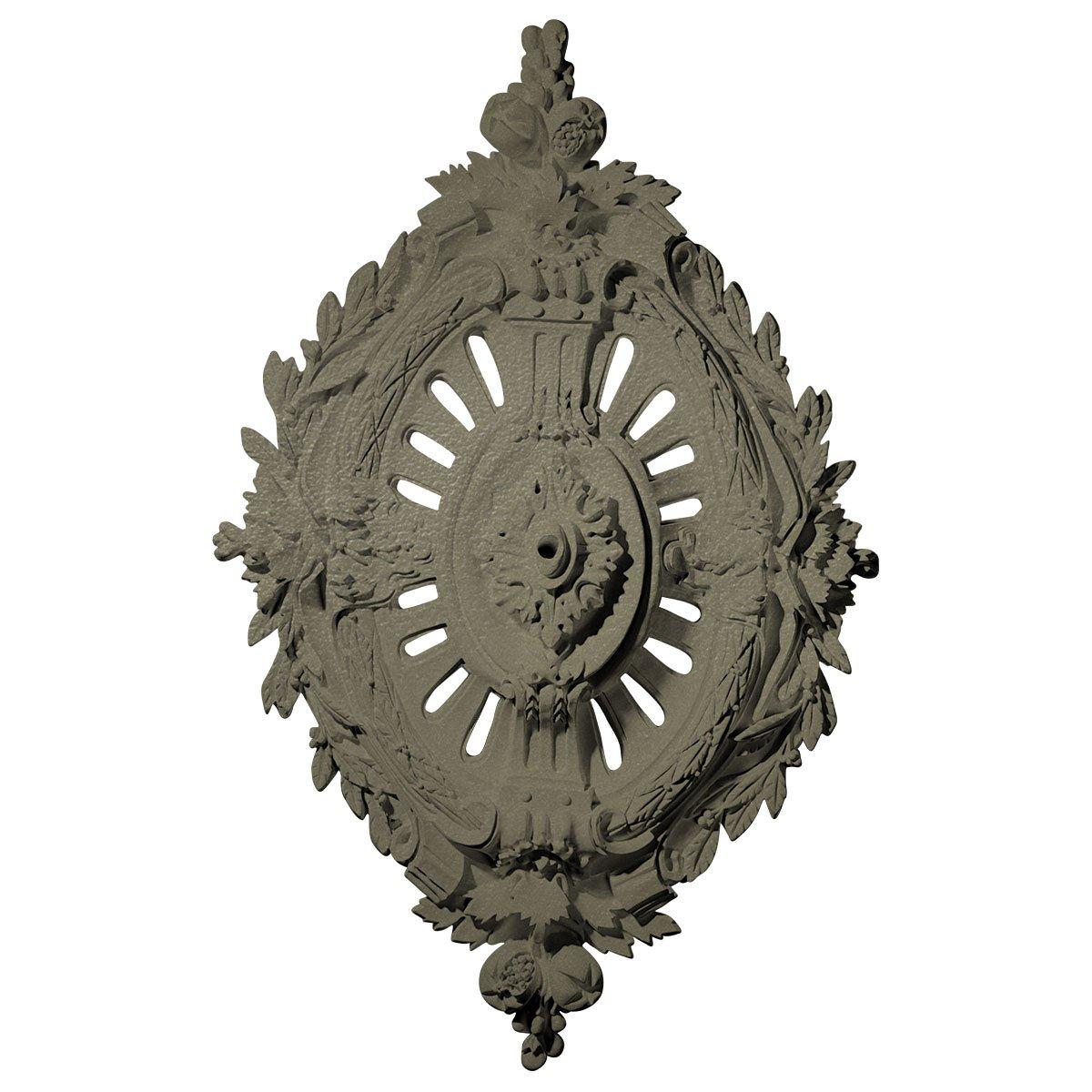 Ekena Millwork CM35X22ANSSF 35 7/8'' W x 22 1/2'' H x 4 3/8'' P Antonio Ceiling Medallion, Spartan Stone
