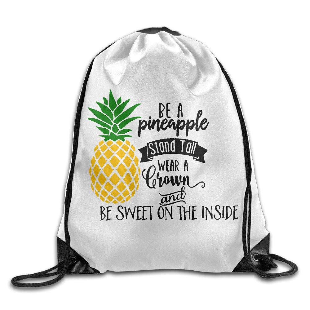 Be A Pineapple Drawstring Backpack Hiking Bag Drawstring Beam Port Backpack