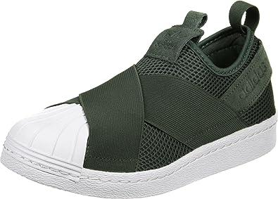 Adidas Superstar Slip On Femme Baskets Mode Vert, Olive