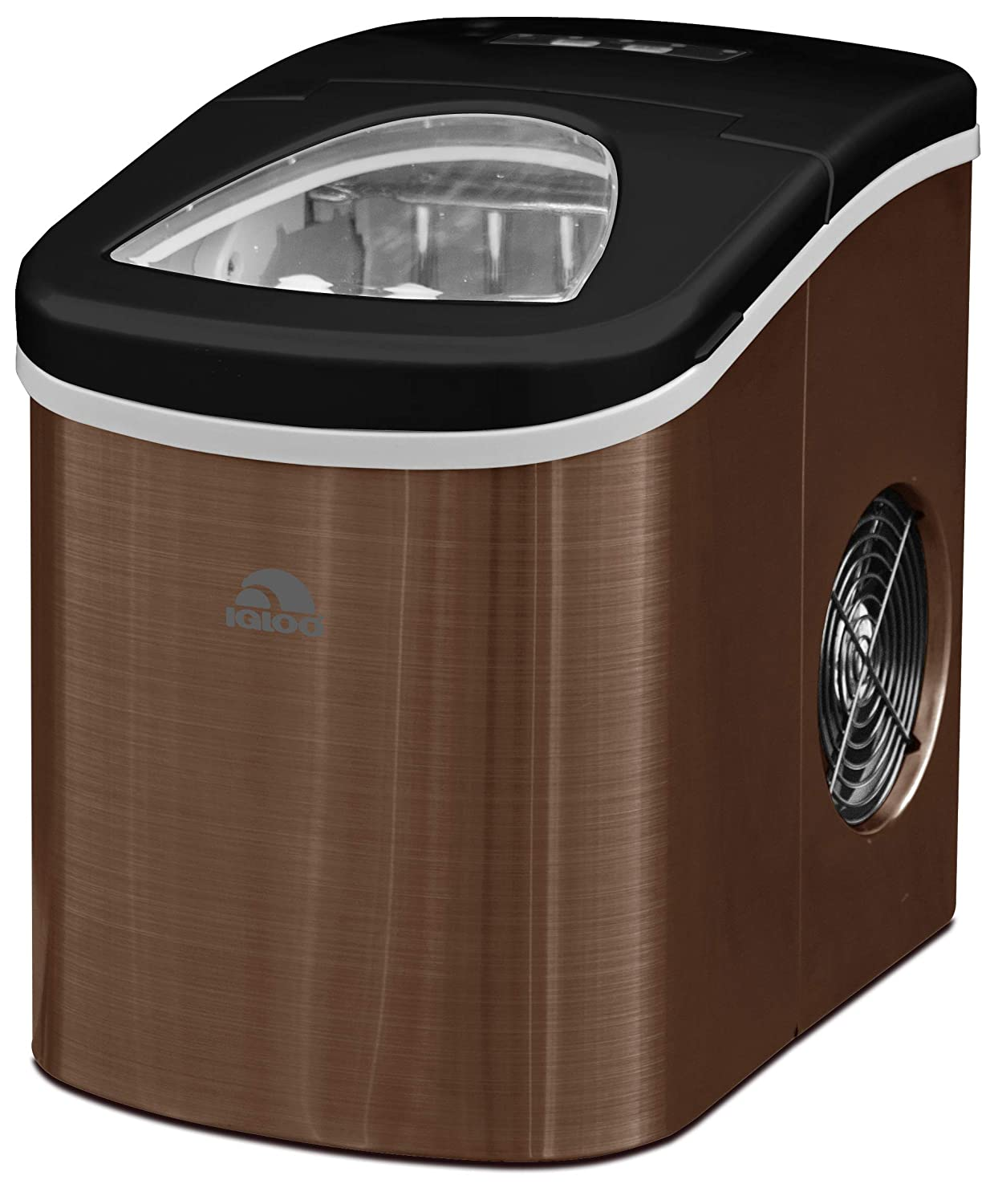 Igloo ICE117-SSCOPPER Compact Ice Maker- Makes 26 lbs. of ice - Copper Stainless Steel