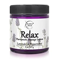 Relax Therapeutic Massage Lotion – All Natural Enriched with Lavender & Peppermint...