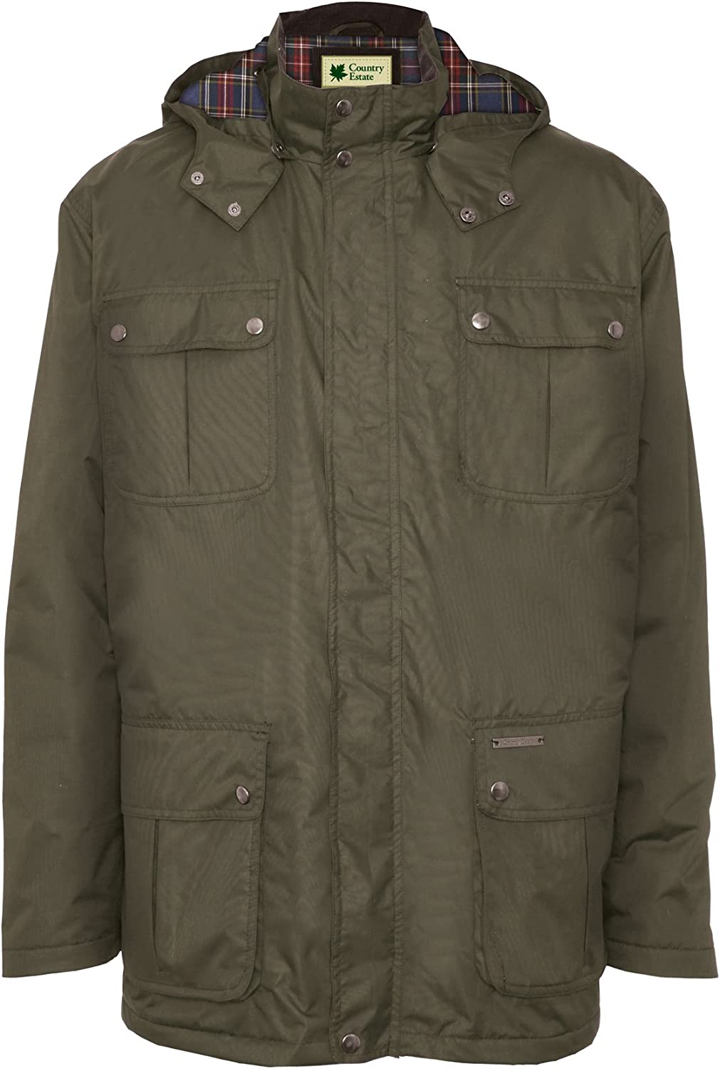 Olive Champion Mens Balmoral Country Estate Waterproof Winter Coat 2XL