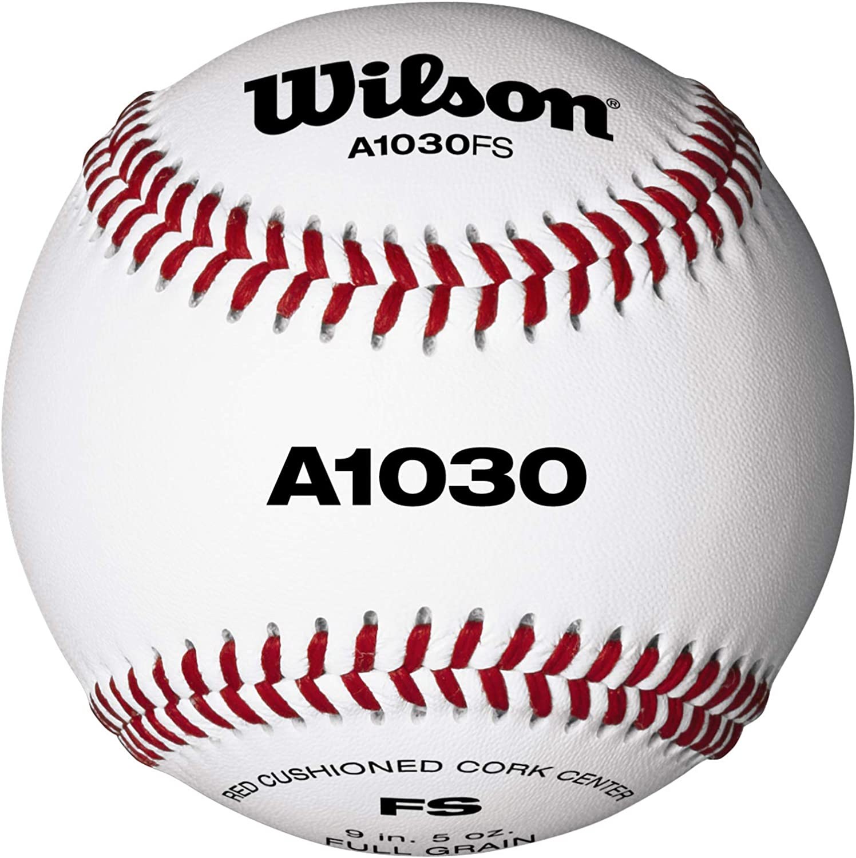 Wilson WTA1030BFS Pelotas de beisbol, A1030 FLAT SEAM, Blanco, 1 ...