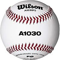 Wilson Baseballs, A1030 FLAT SEAM, wit, WTA1030BFS